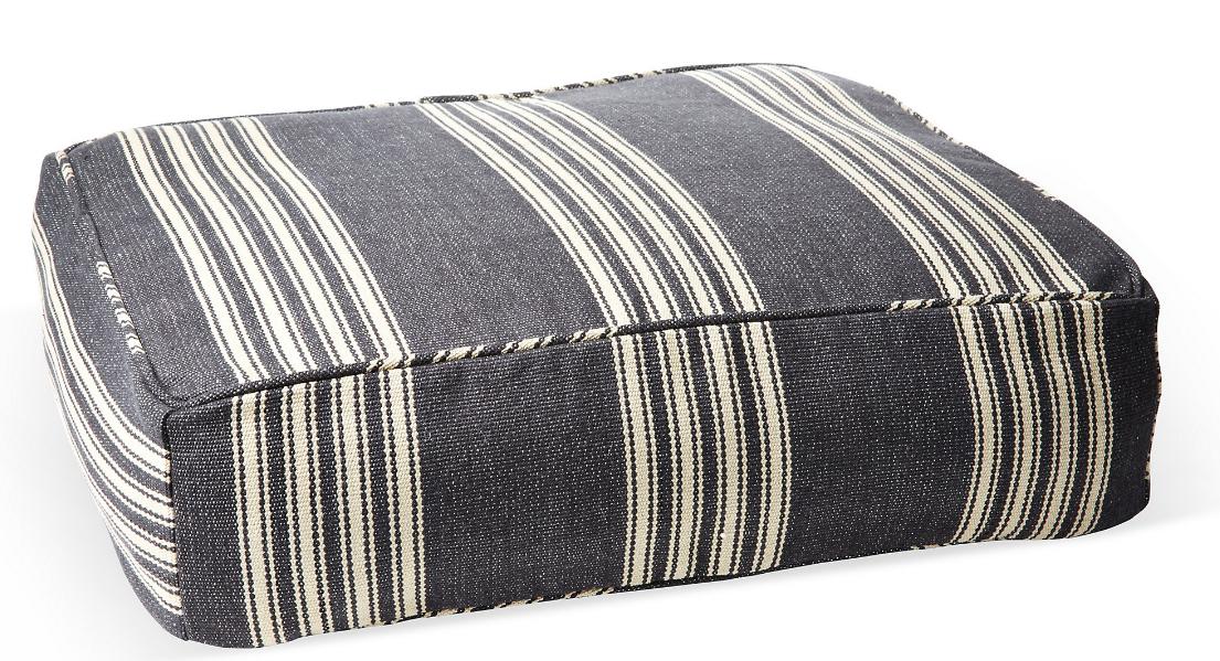 homestead-stripe-dog-bed-black