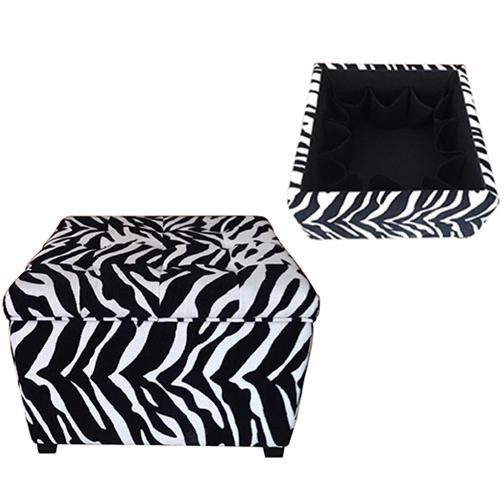 house-of-hampton-velvain-zebra-ottoman