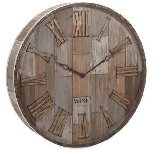 wine-barrel-wood-wall-clock