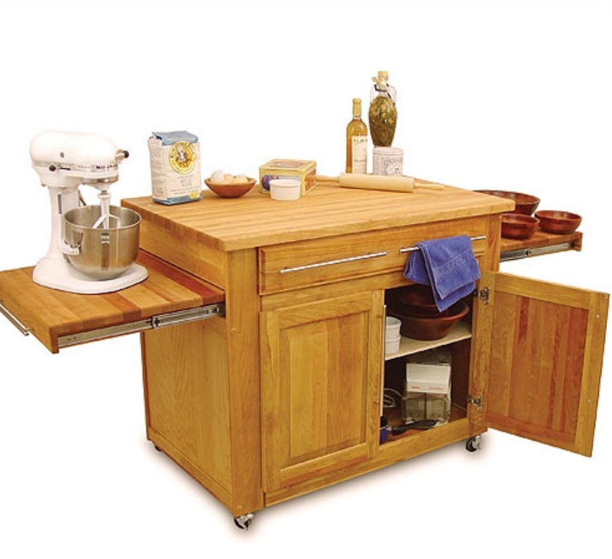 catskill-craftsmen-kitchen-island-with-butcher-block-top