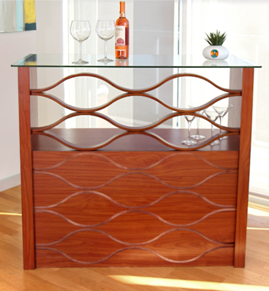 LumiSource Wave Bar with Wine Storage