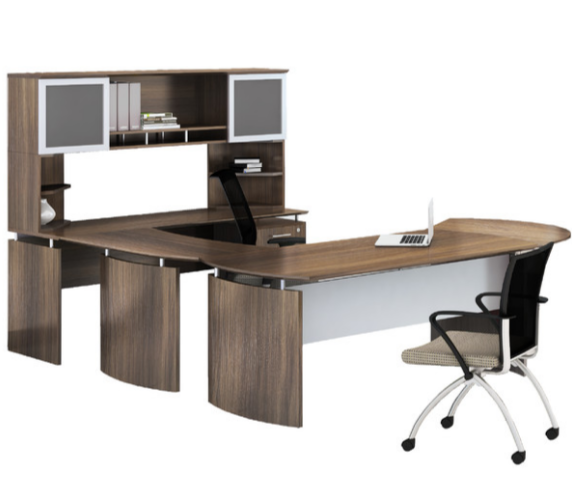 U-shaped office desk