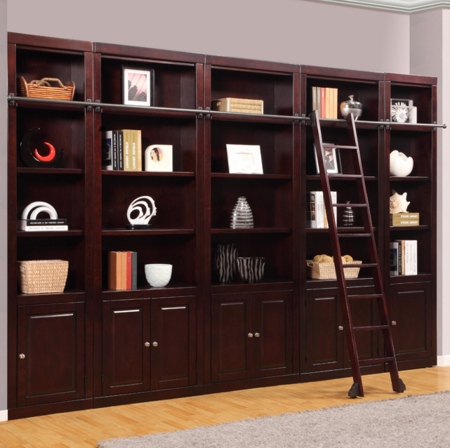 Parker Boston Merlot Library Bookcase