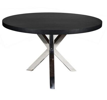 Black Round Modern Charlotte Dining Table