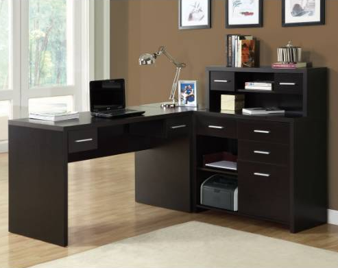 L-shaped Black Office Suite