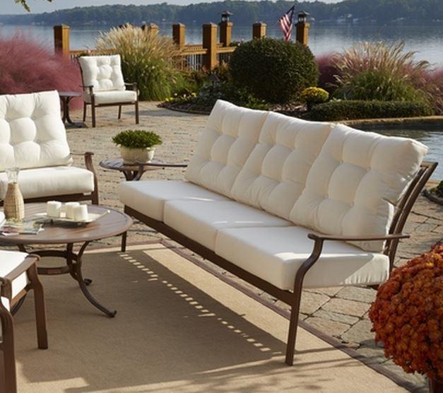 Panama Jack Beige Island Breeze Deep Seating Sofa