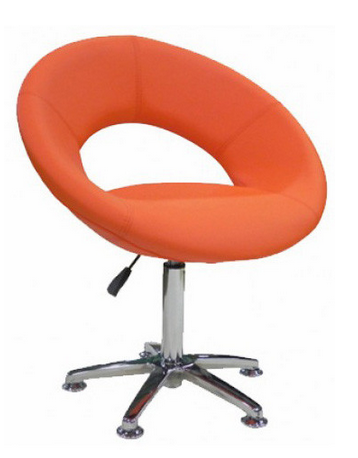 Round Orange Chair with Metal base