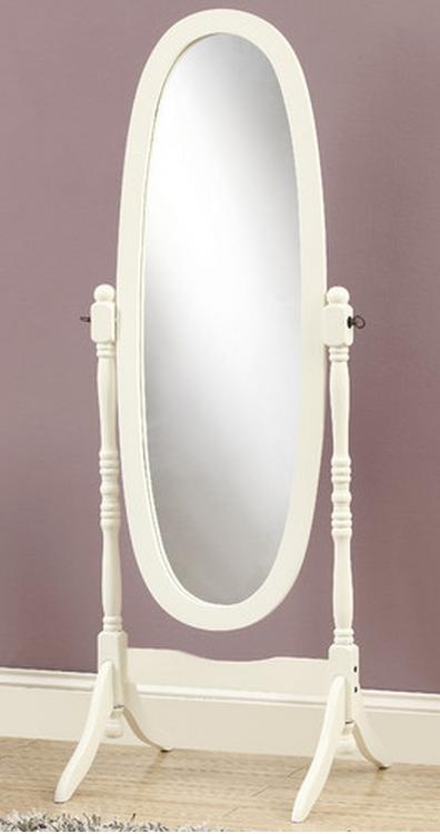 Oval White Floow Mirror
